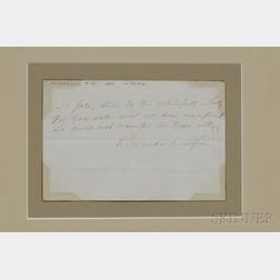 Emerson, Ralph Waldo (1803-1882) Signed Sentiment.