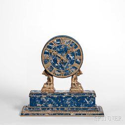 E.F. Caldwell & Co. Lapis Shelf Clock