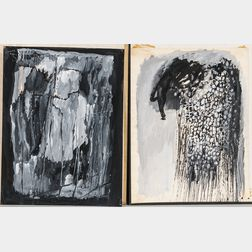 Rex Jesse Ashlock (American, 1918-1999)      Two Grisaille Paintings on Paper: The Oracle