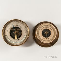 Two Aneroid Wall Barometers
