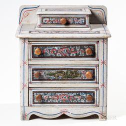 Miniature Paint-decorated Bureau