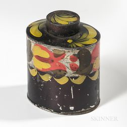 Painted Tin Tea Cannister
