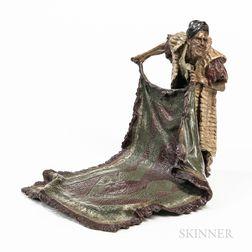 After Franz Bergman, Cold-painted Bronze Carpet Seller