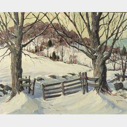 Robert Shaw Wesson (American, 1902-1967)  Gateway to the Hills, Bradford Vermont