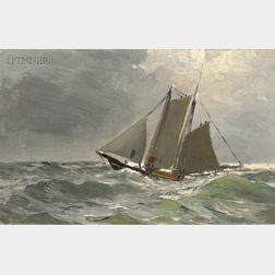 Parker S. Perkins (American, 1862-1942)      Lot of Two Seascapes: A Bit of Shore, Cape Ann
