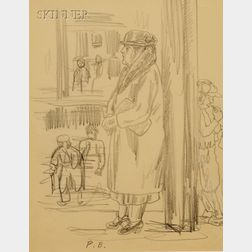 Peggy Brook Bacon (American, 1895-1987)      Lot of Two Female Portrait Studies: Ms. JRM and Leaving Port