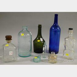 Eight Assorted Glass Bottles