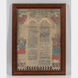 Ten Commandments Needlework Picture