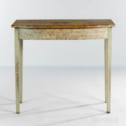 Light Blue-painted Pine Console Table