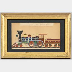 "American School, 19th Century      Portrait of the Locomotive ""Charlotte"" of the Rutland & Burlington [Vermont] Railroad"