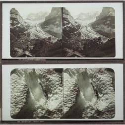 Eight Stereoscopic Glass Positives