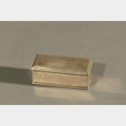 Federal Coin Silver Snuff Box