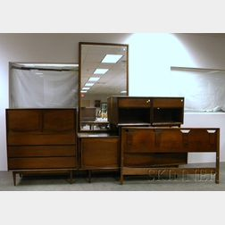 Five Pieces of Mid-century Modern Bedroom Furniture