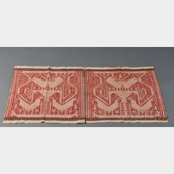 Pair of Indonesian Woven Cotton Textiles