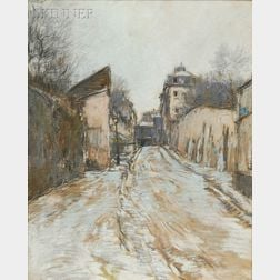 French School, 19th/20th Century      Winter Street