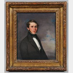 American School, 19th Century      Portrait of Captain George Leslie