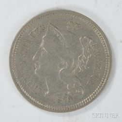 1879 Three Cent Nickel Trime