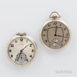 Two American Gold-filled Open-face Watches