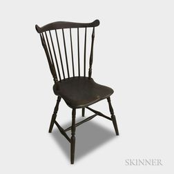 Brown-painted Fan-back Windsor Side Chair