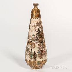Ryozan Satsuma Bottle Vase