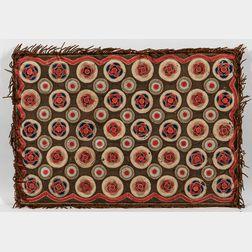 Wool Applique Penny Rug