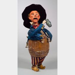 Rare Gustave Vichy Automaton of a Drunkard in a Barrel