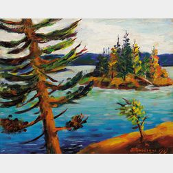 John Goossens (Canadian/American, b. 1887)      Morning on Lobstick Bay  /A Canadian View