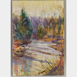 John Paul Manship (American, 1927-2000)      River Scene
