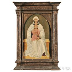 Central European, 19th Century      Madonna and Child in a Tabernacle Frame