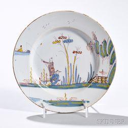 Tin-glazed Earthenware Waterside Plate