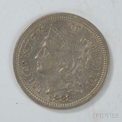 1888 Three Cent Nickel Trime
