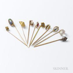 Ten Stickpins
