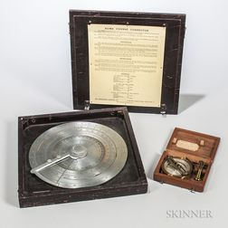 Cased Acme Course Corrector and a Thomas Hall Surveyor's Compass