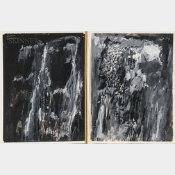 Rex Jesse Ashlock (American, 1918-1999)      Two Grisaille Paintings on Paper: Abstraction