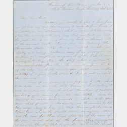 Pear, Isaac (b. 1824) Autograph Letter Signed, Rio de Janeiro, Brazil, 13 February 1853.