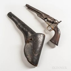 U.S. Colt Model 1860 Army Revolver and Holster
