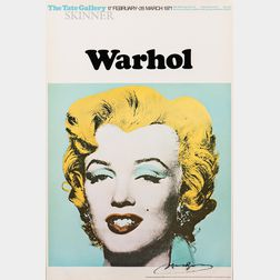 After Andy Warhol (American, 1928-1987)      Marilyn   (Exhibition poster for Warhol: The Tate Gallery)