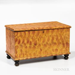 Miniature Paint-decorated Poplar Chest