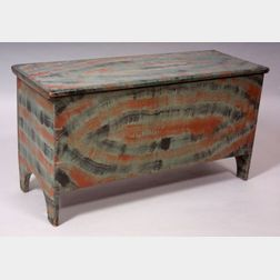Vinegar Painted Six-board Chest