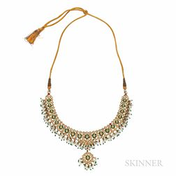 Gold, Enamel, and Diamond Necklace