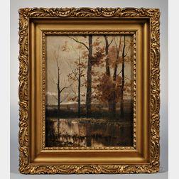 Susan Wales (Massachusetts, 1839-1927)       Autumn Landscape.