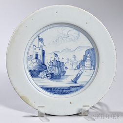 Tin-glazed Earthenware Taking of Portobello   Dish
