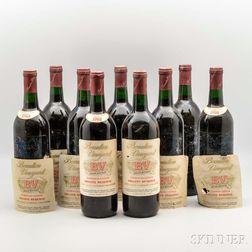Beaulieu Private Reserve Georges de Latour 1968, 9 bottles