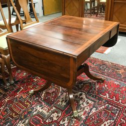 Regency-style Inlaid Rosewood Sofa Table