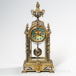 French Champleve and Ornamental Crystal Regulator
