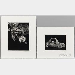 Katsuo Yamaguchi (b. 1947), Two Aquatints