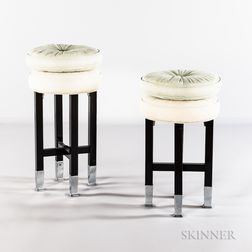 Two Art Deco Stools