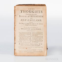 Edwards, Jonathan (1703-1758) Some Thoughts Concerning the Present Revival of Religion in New-England.