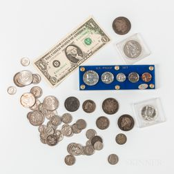 Group of American and World Coins and Currency