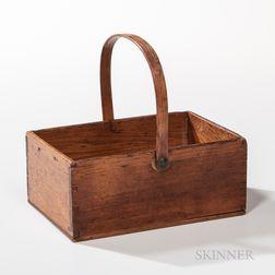 Small Shaker Butternut Swing-handled Rectangular Carrier